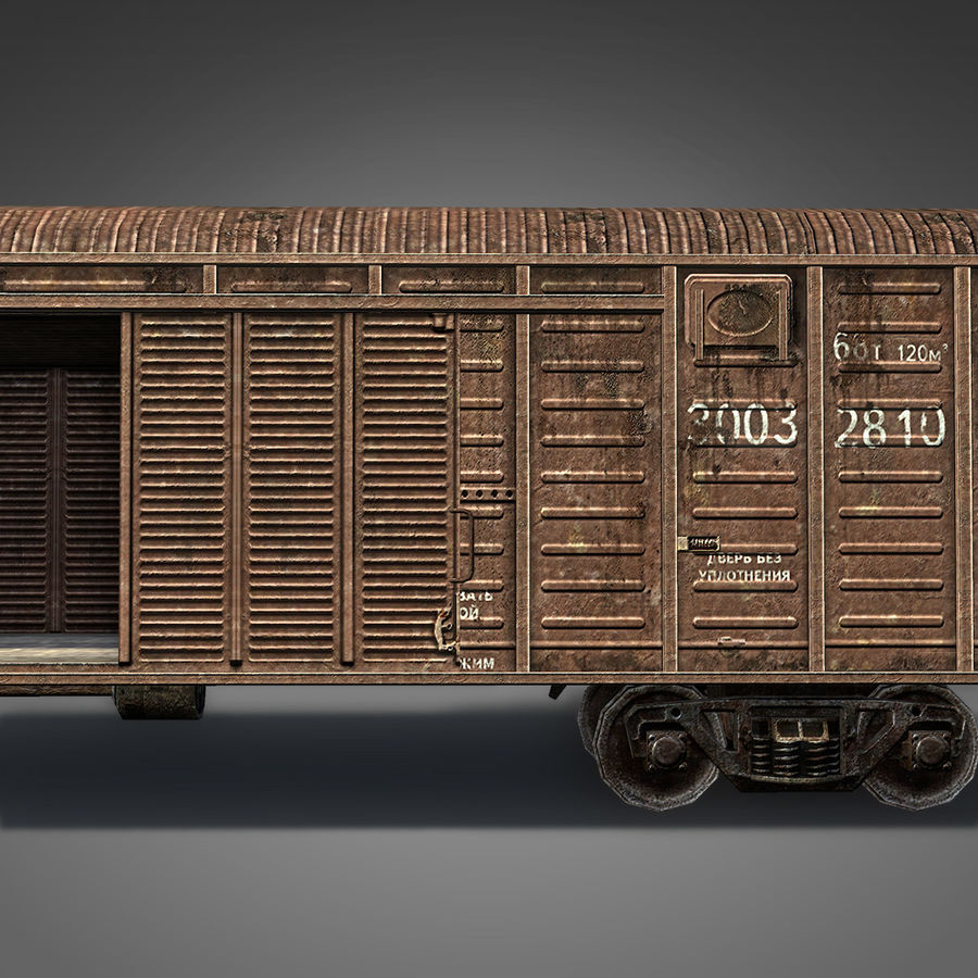 Güterwagen royalty-free 3d model - Preview no. 4