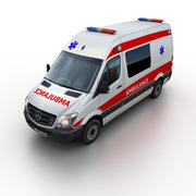 メルセデスベンツスプリンター救急車2014 3d model