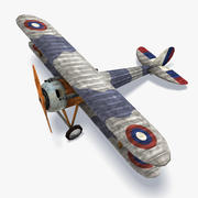 Nieuport 28 Low Poly 3d model