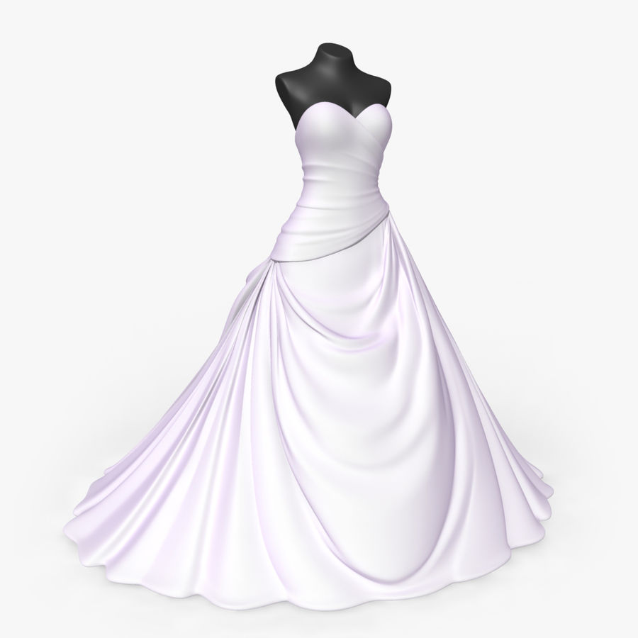 Vestido de casamento royalty-free 3d model - Preview no. 1