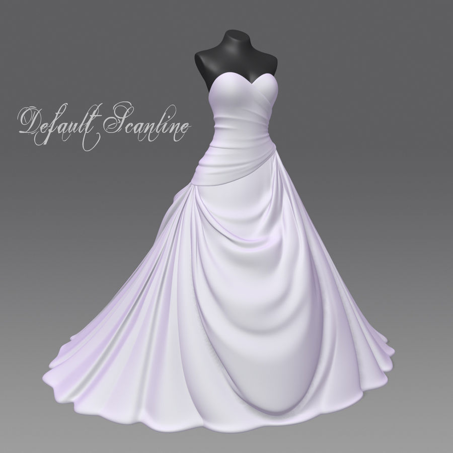 Vestido de casamento royalty-free 3d model - Preview no. 13