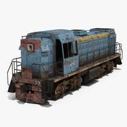 Старый Локомотив 3d model