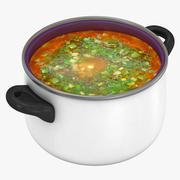 Potten med soppa 2 3d model