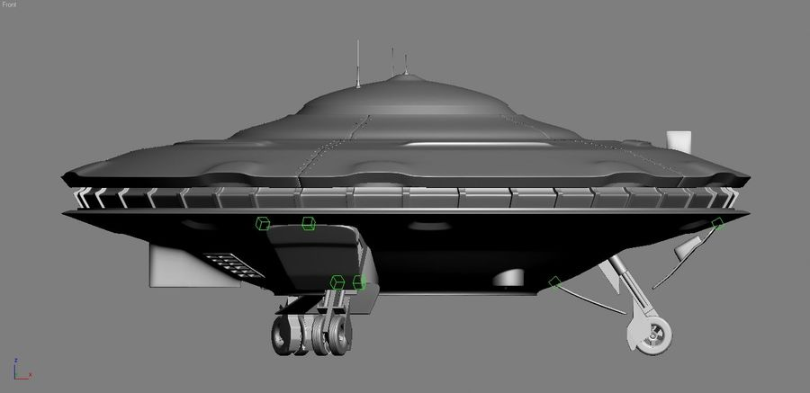Spaceship  UFO 3D MODEL royalty-free 3d model - Preview no. 4