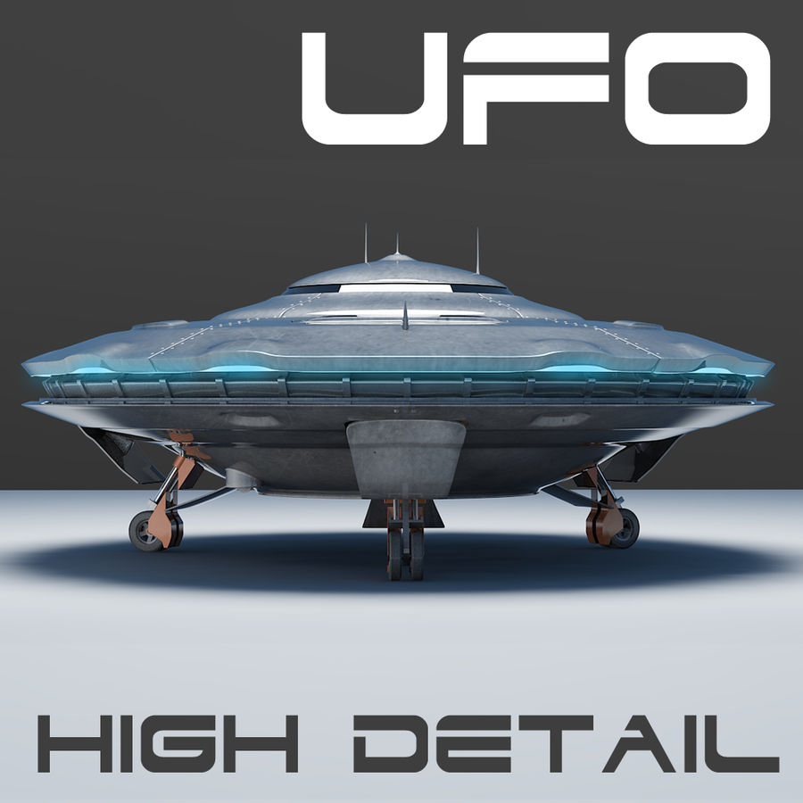 Spaceship  UFO 3D MODEL royalty-free 3d model - Preview no. 1