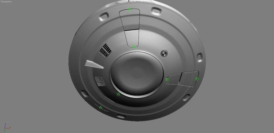 Spaceship  UFO 3D MODEL royalty-free 3d model - Preview no. 9