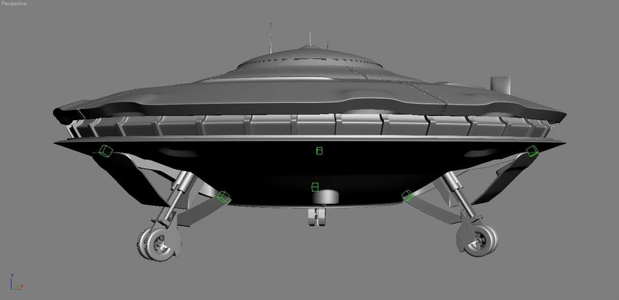 Spaceship  UFO 3D MODEL royalty-free 3d model - Preview no. 7