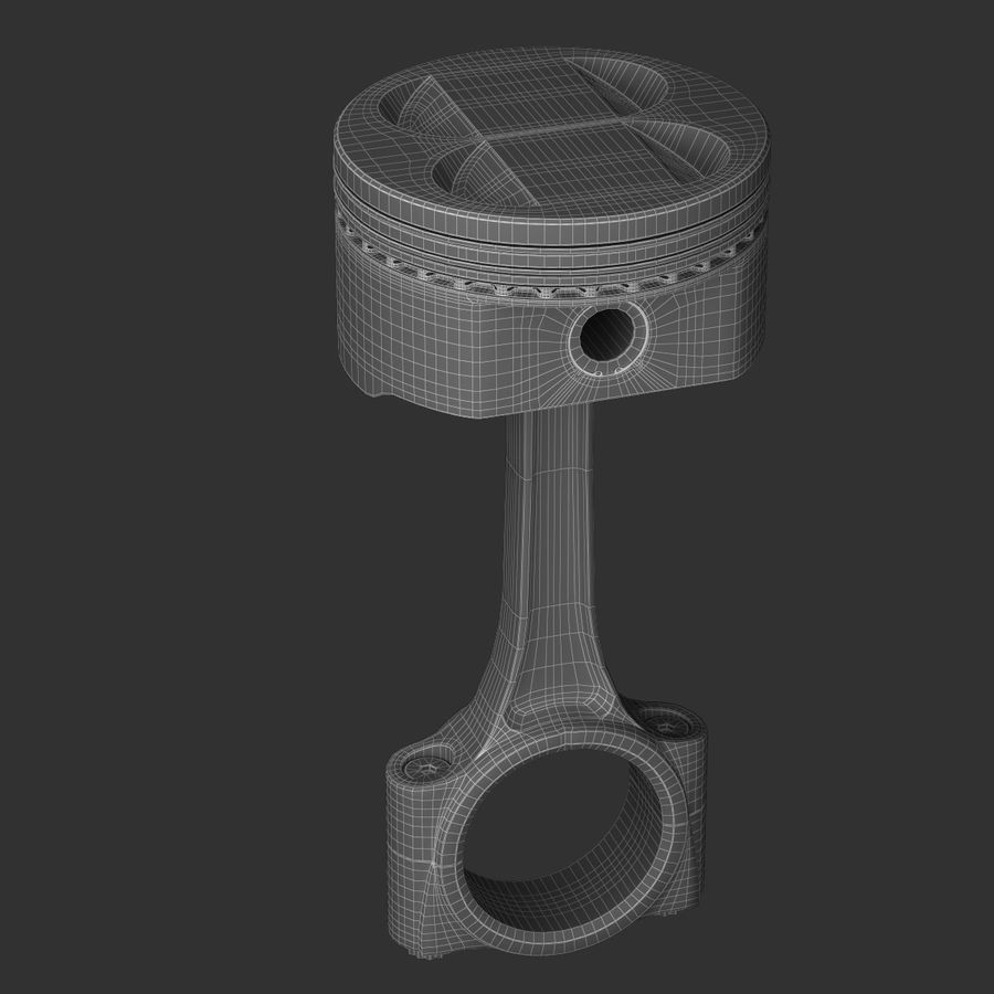 Piston royalty-free 3d model - Preview no. 4