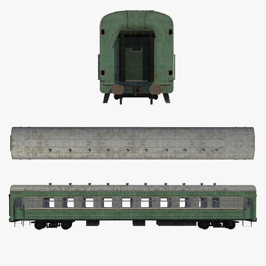 Passenger car royalty-free 3d model - Preview no. 8