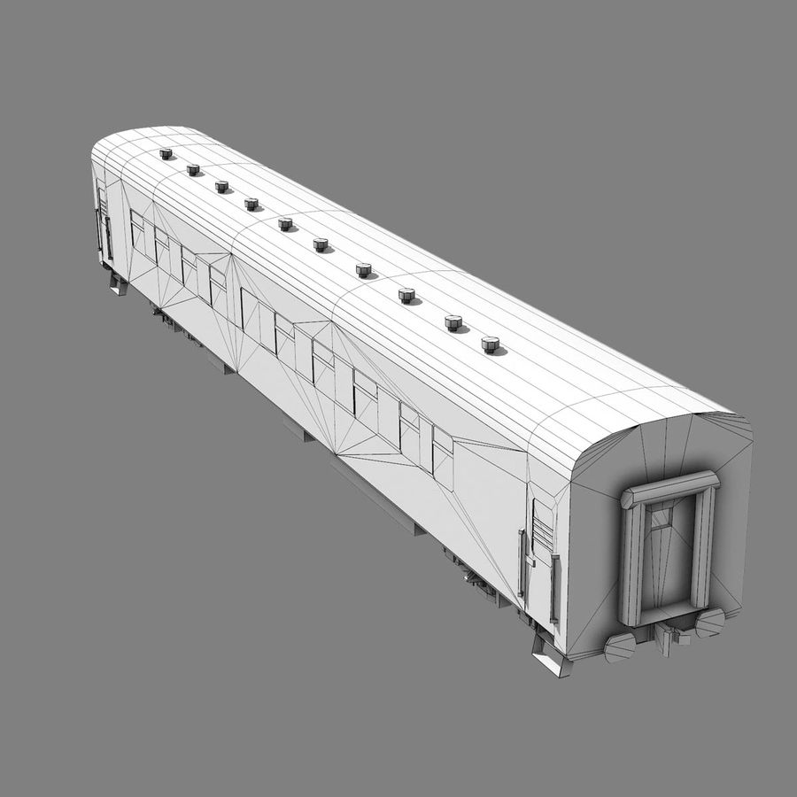 Passenger car royalty-free 3d model - Preview no. 10