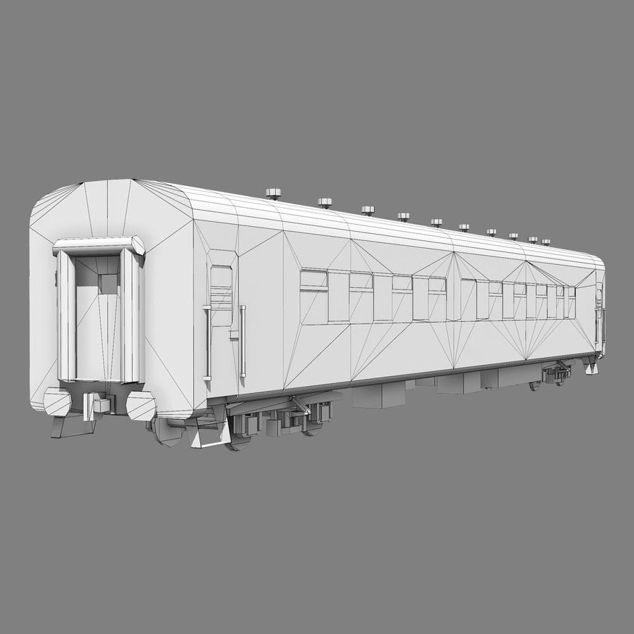 Passenger car royalty-free 3d model - Preview no. 9