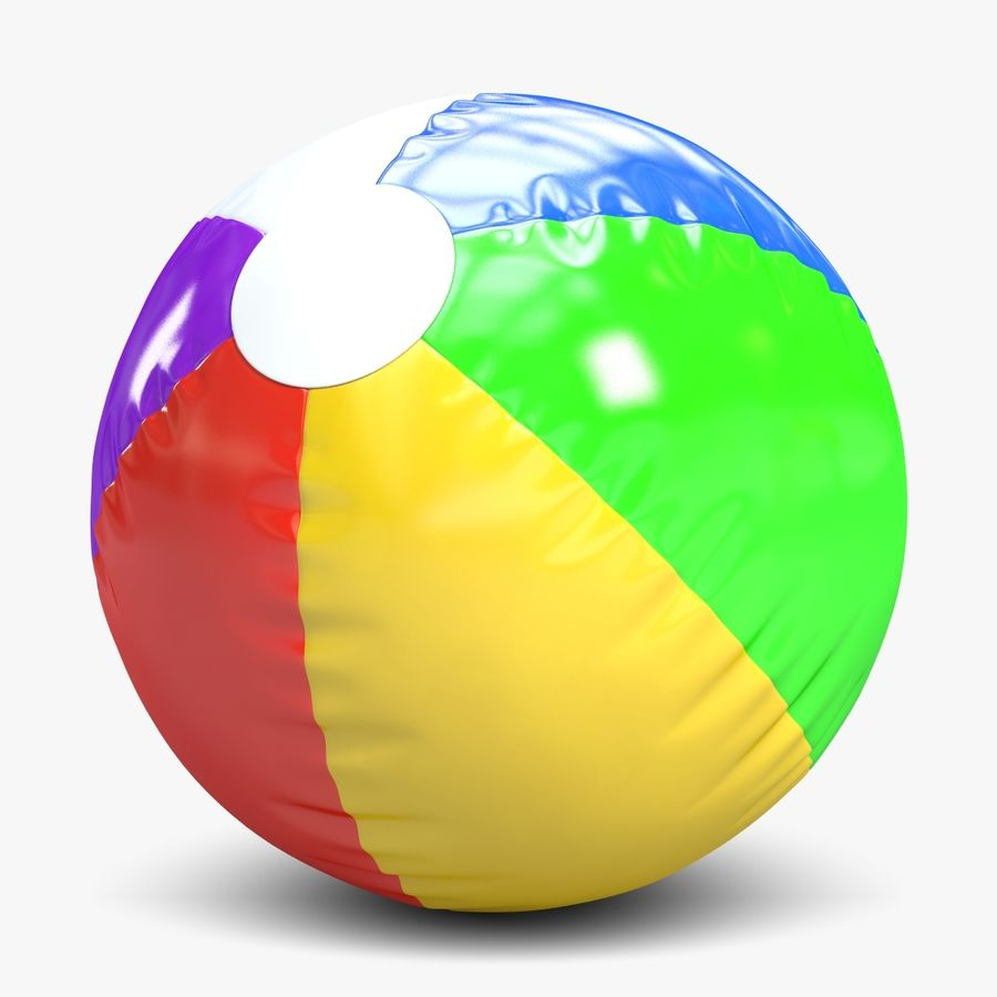 Beach Ball 2 royalty-free 3d model - Preview no. 1