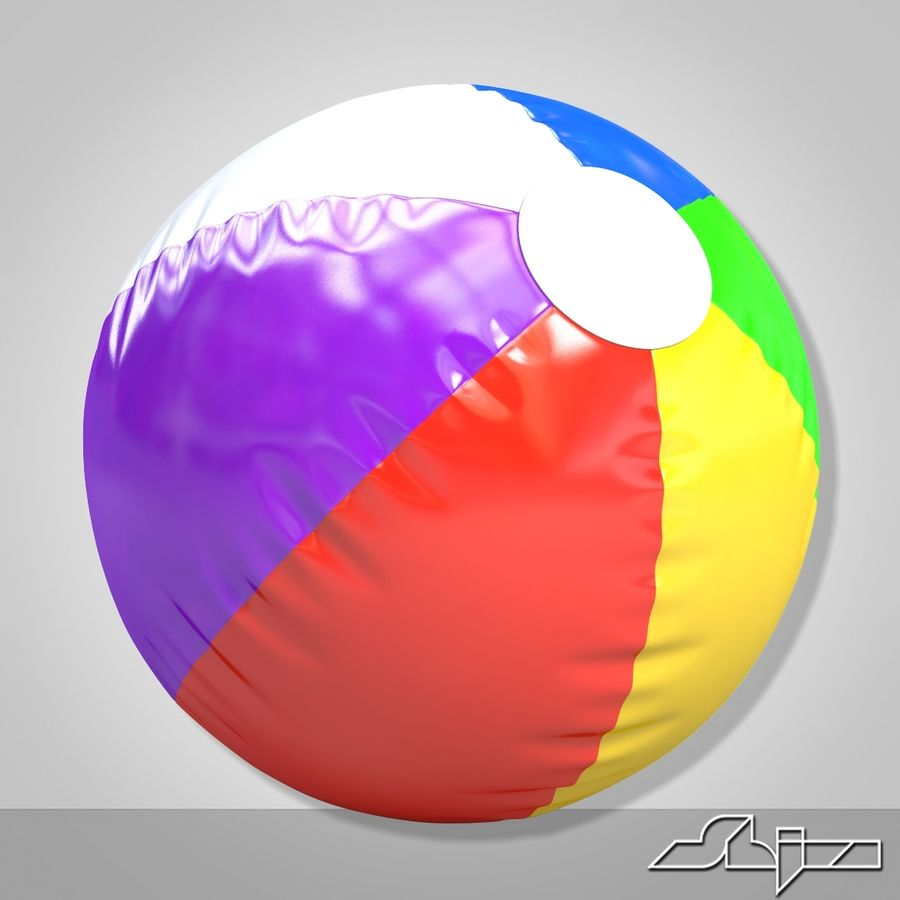 Beach Ball 2 royalty-free 3d model - Preview no. 5