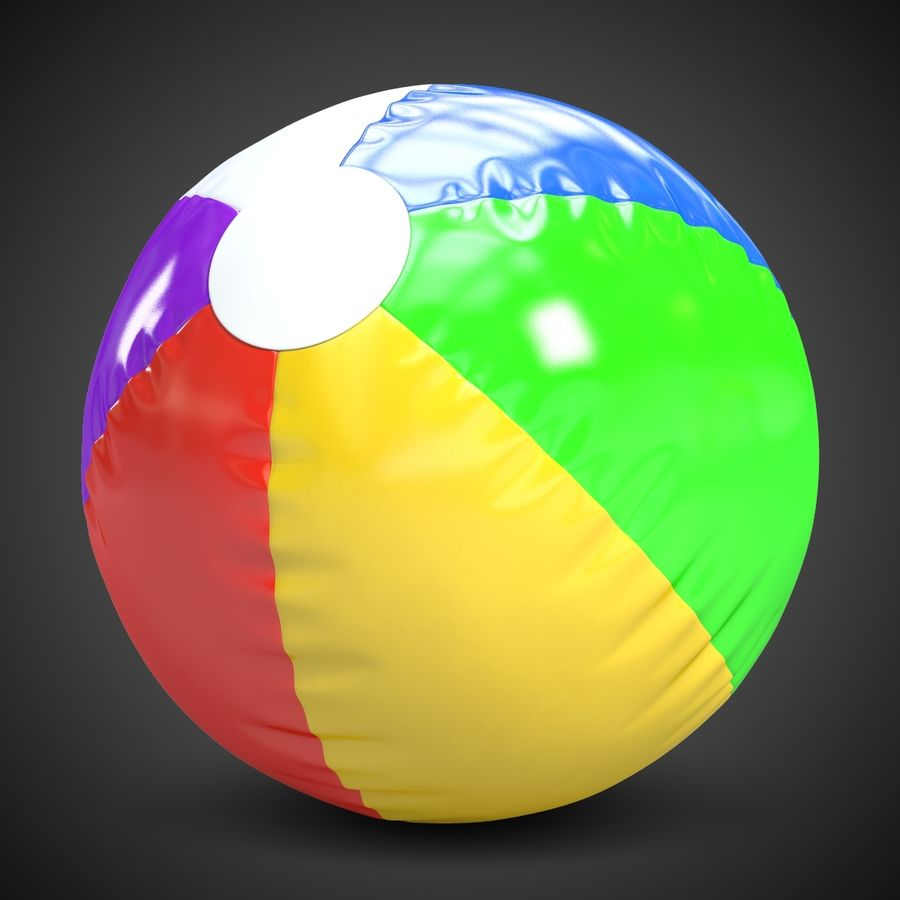Beach Ball 2 royalty-free 3d model - Preview no. 2