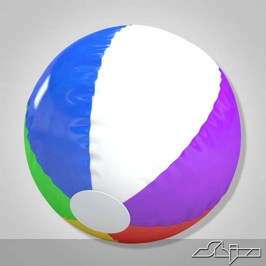 Beach Ball 2 royalty-free 3d model - Preview no. 3