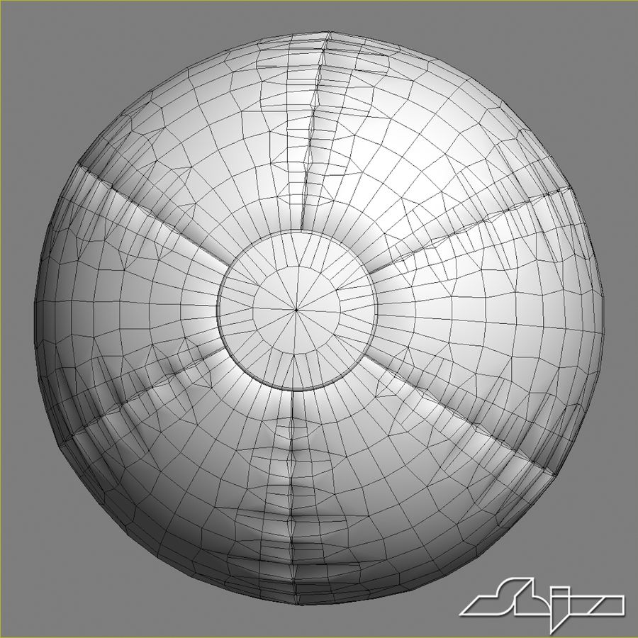 Beach Ball 2 royalty-free 3d model - Preview no. 8