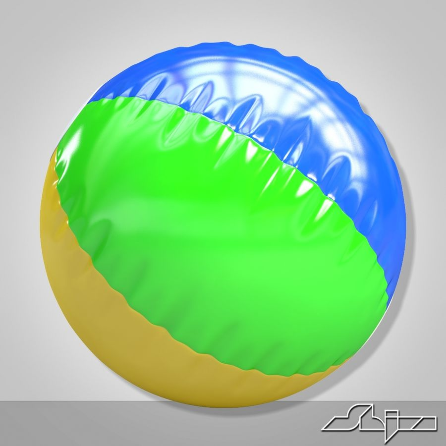 Beach Ball 2 royalty-free 3d model - Preview no. 4