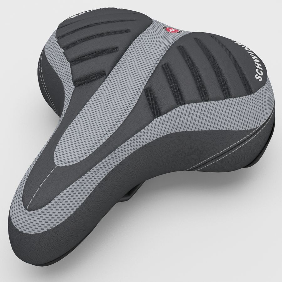 Bicycle Seat royalty-free 3d model - Preview no. 3