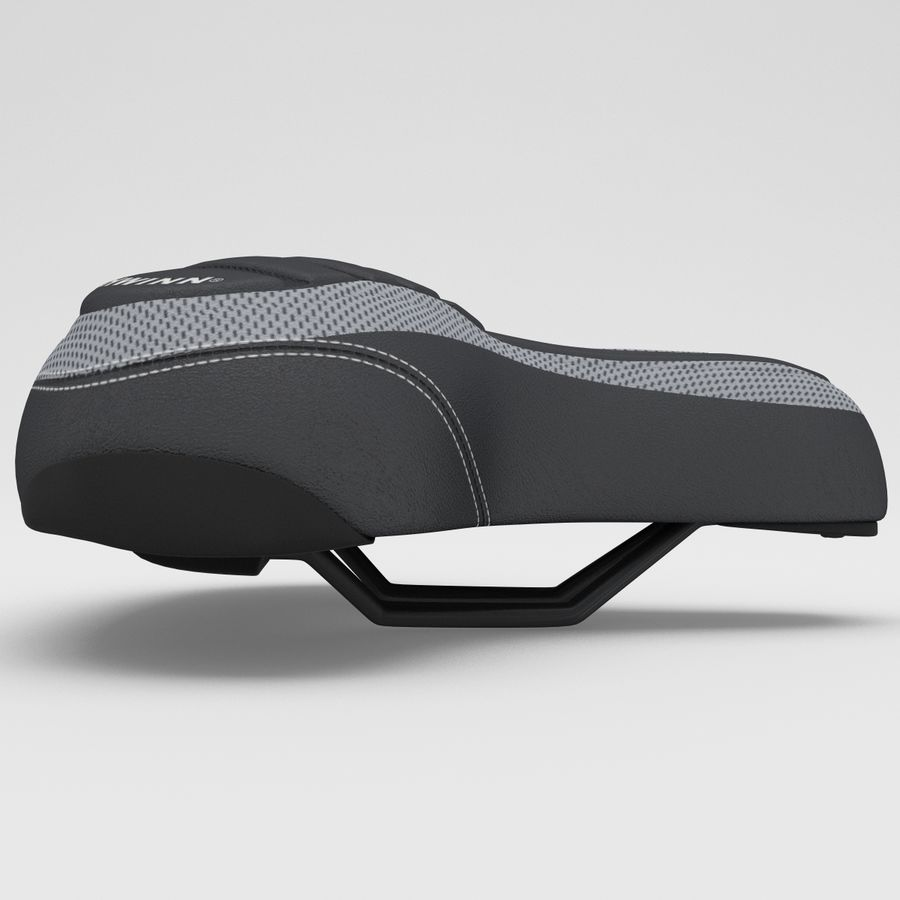 Bicycle Seat royalty-free 3d model - Preview no. 6