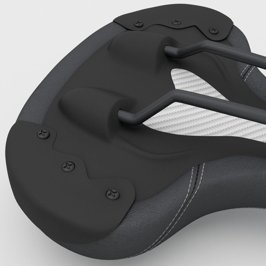 Bicycle Seat royalty-free 3d model - Preview no. 12