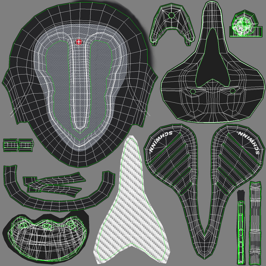 Bicycle Seat royalty-free 3d model - Preview no. 28