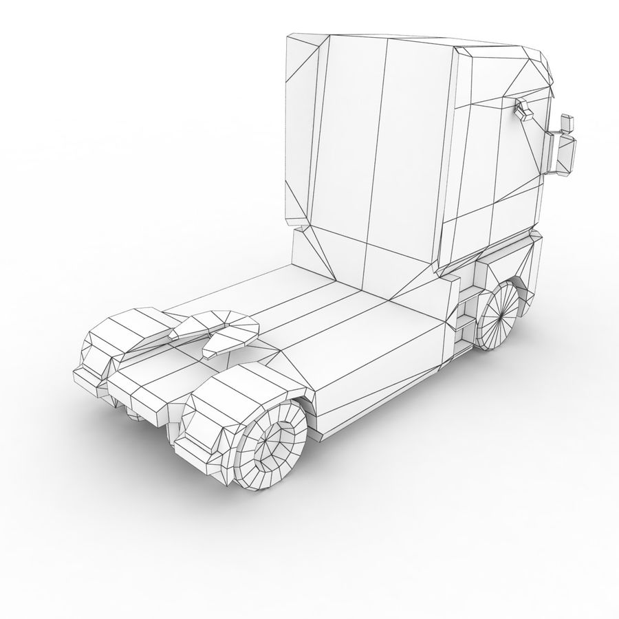 Renault Magnum 2011 royalty-free 3d model - Preview no. 13