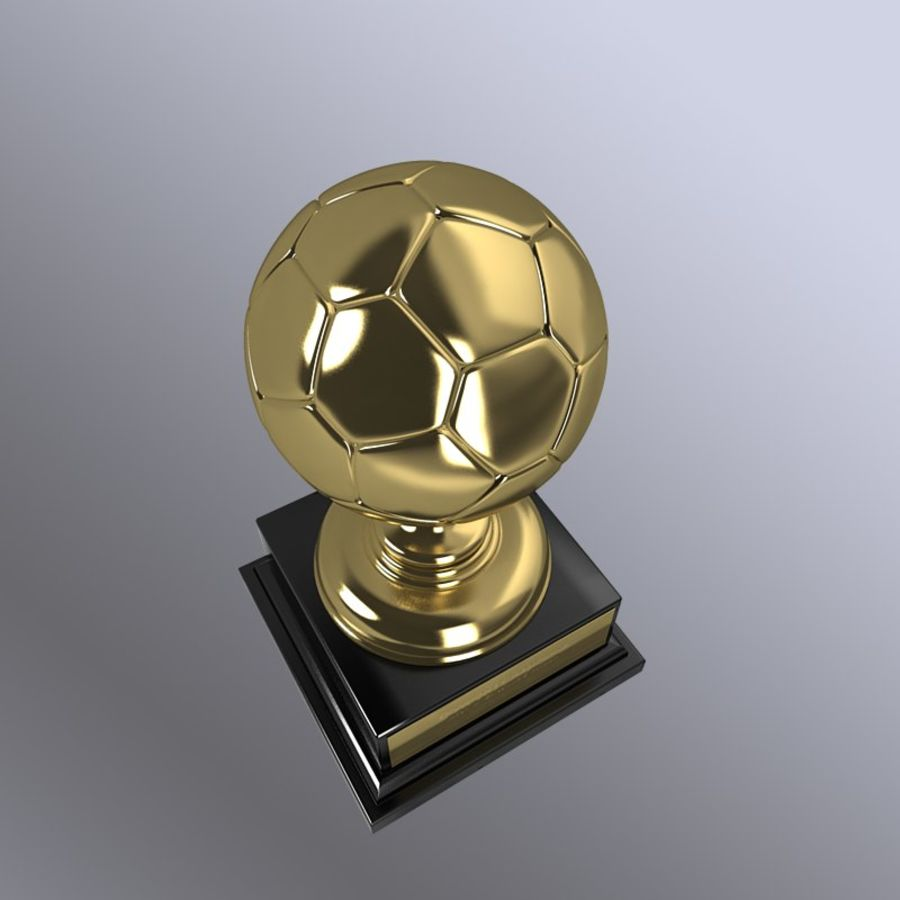 Soccer Trophy royalty-free 3d model - Preview no. 4