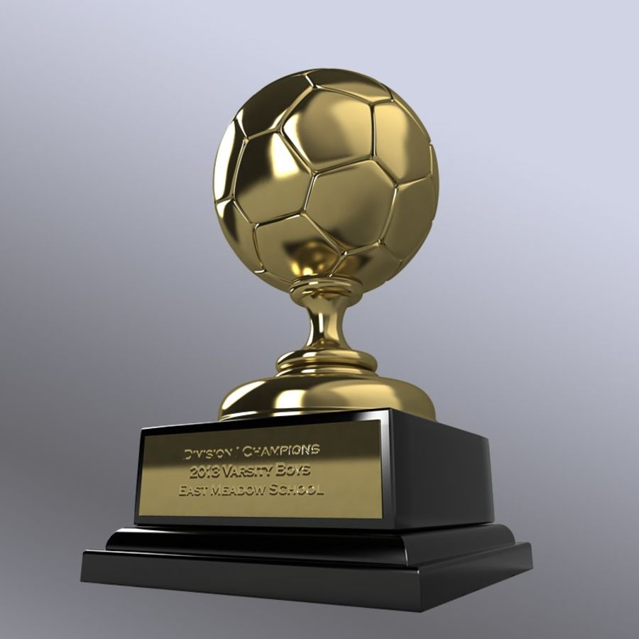 Soccer Trophy royalty-free 3d model - Preview no. 5