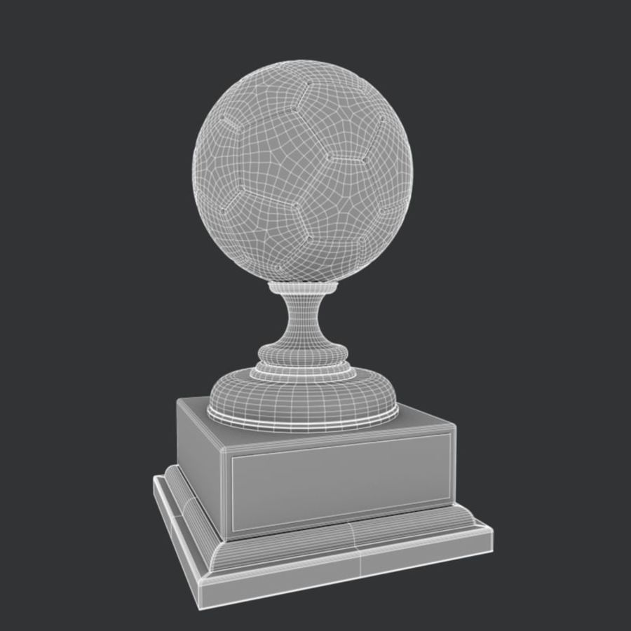 Soccer Trophy royalty-free 3d model - Preview no. 7