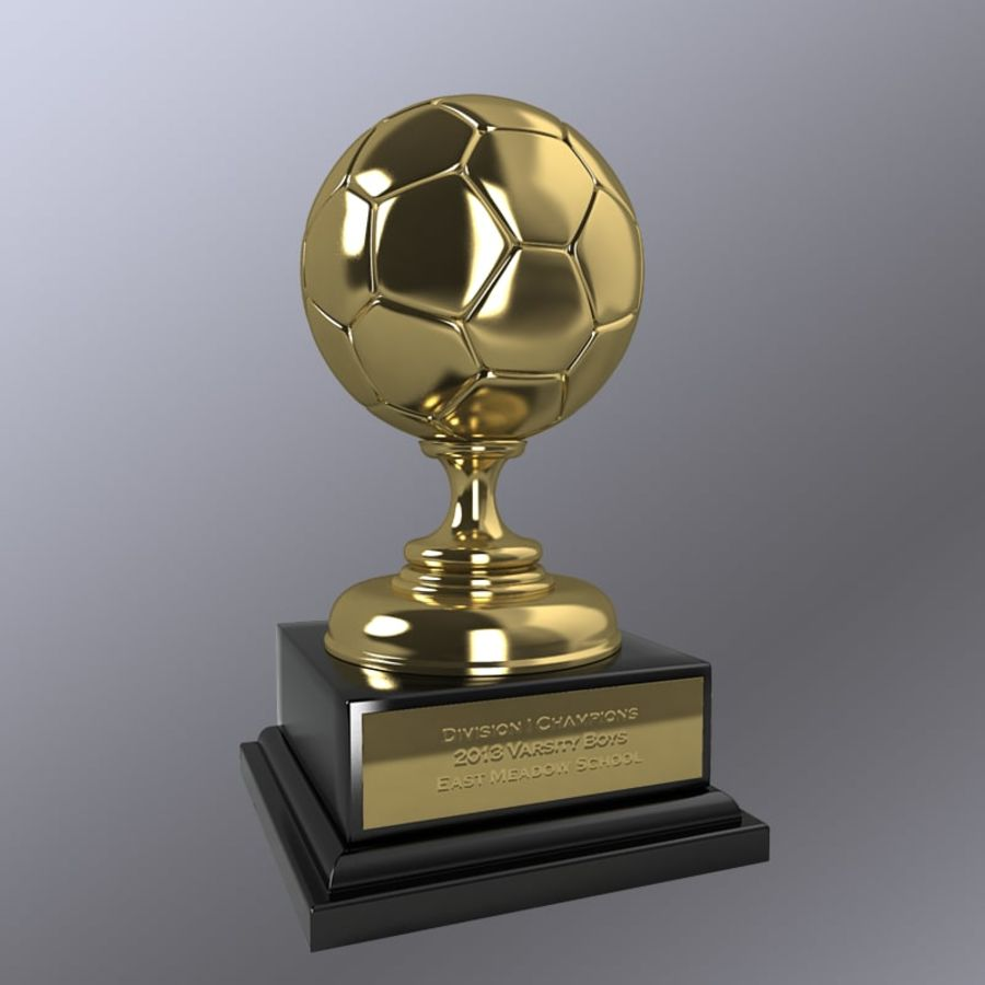 Soccer Trophy royalty-free 3d model - Preview no. 2