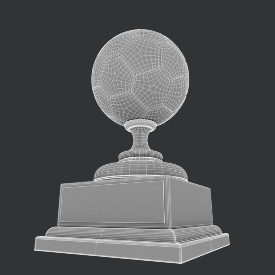 Soccer Trophy royalty-free 3d model - Preview no. 6