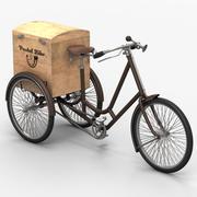 Old postal bike 3d model
