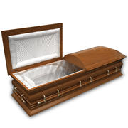 High Def Classic Coffin Wood 3d model
