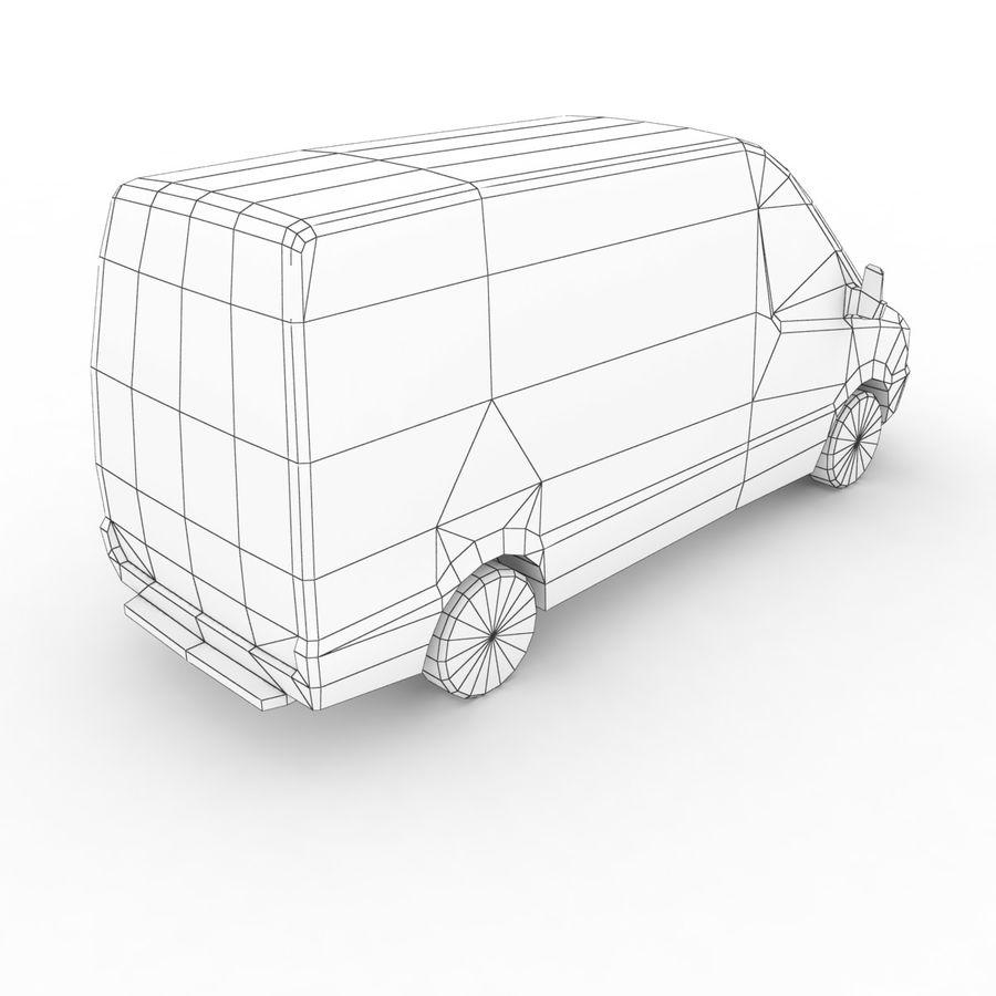 梅赛德斯 - 奔驰短跑运动员2014 royalty-free 3d model - Preview no. 7