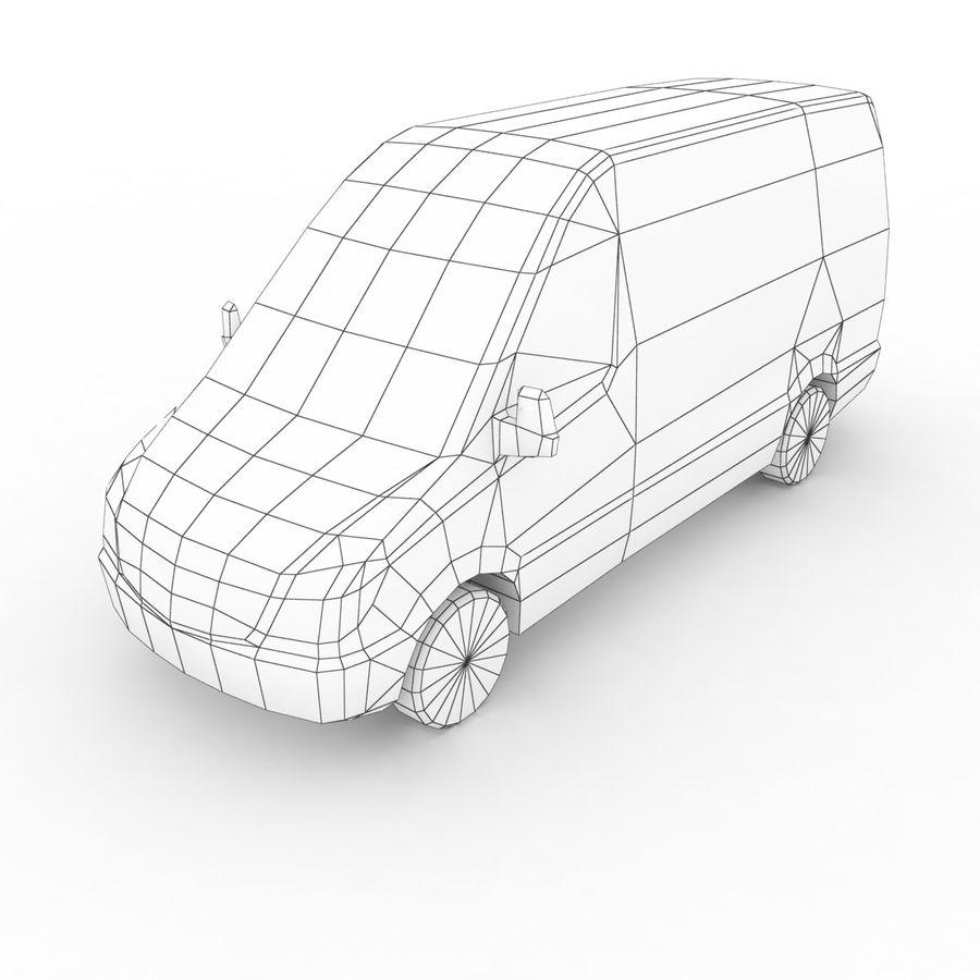 梅赛德斯 - 奔驰短跑运动员2014 royalty-free 3d model - Preview no. 6