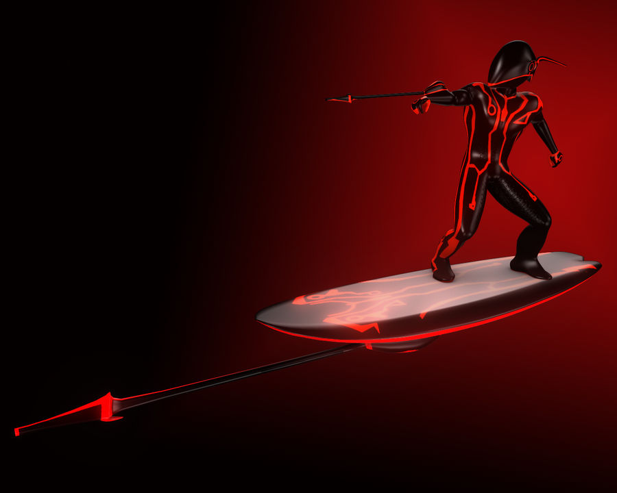 Digital Surfer royalty-free 3d model - Preview no. 3