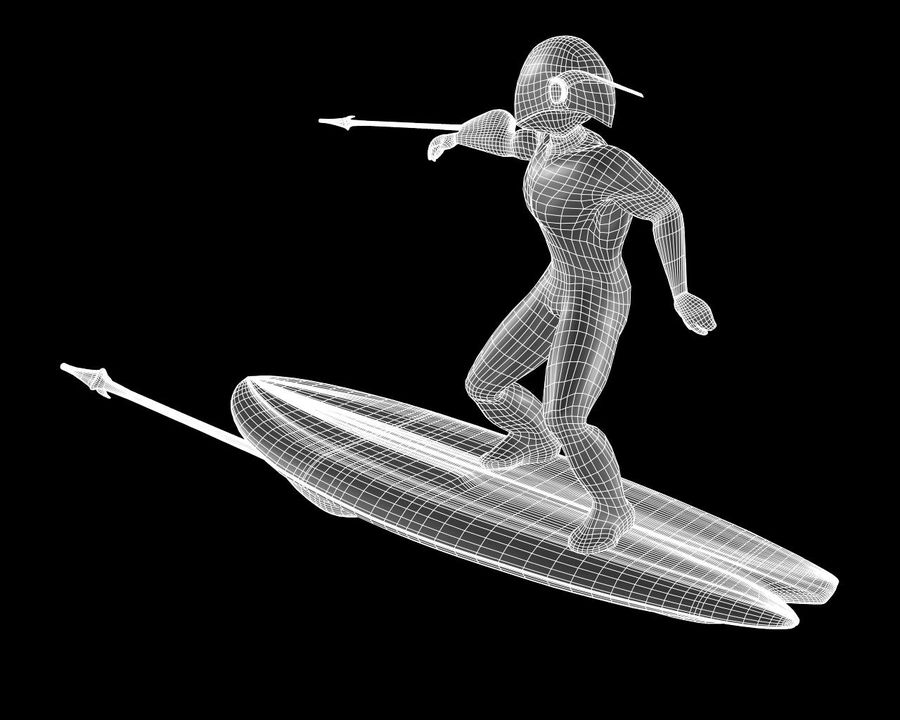 Digital Surfer royalty-free 3d model - Preview no. 11