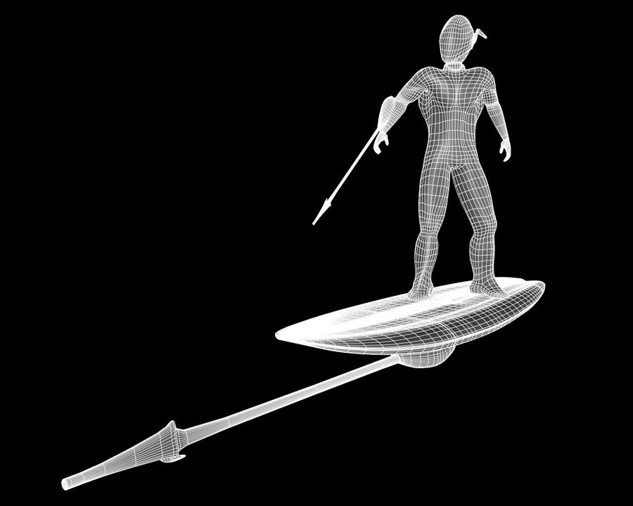 Digital Surfer royalty-free 3d model - Preview no. 10