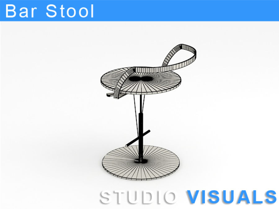 Barstol (glas) royalty-free 3d model - Preview no. 4