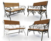 benches 3d model
