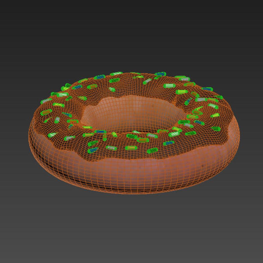 Choklad munk royalty-free 3d model - Preview no. 6
