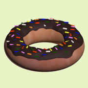 Chocolate Donut 3d model