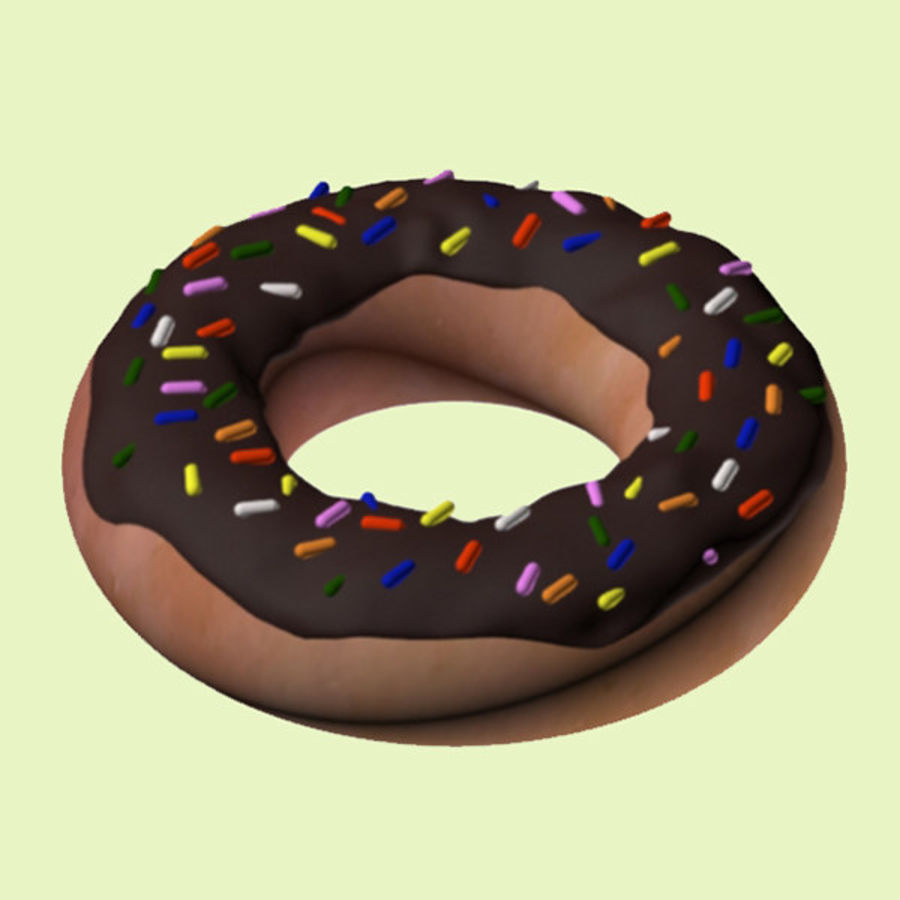 Chocolate Donut royalty-free 3d model - Preview no. 2