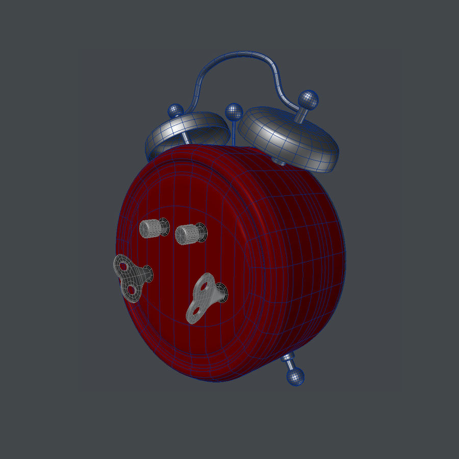 Alarm Clock royalty-free 3d model - Preview no. 6