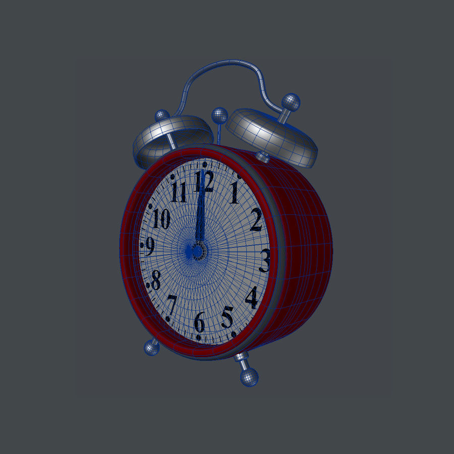Alarm Clock royalty-free 3d model - Preview no. 5