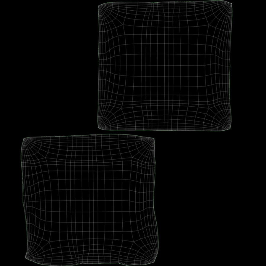 宜家枕头 royalty-free 3d model - Preview no. 7