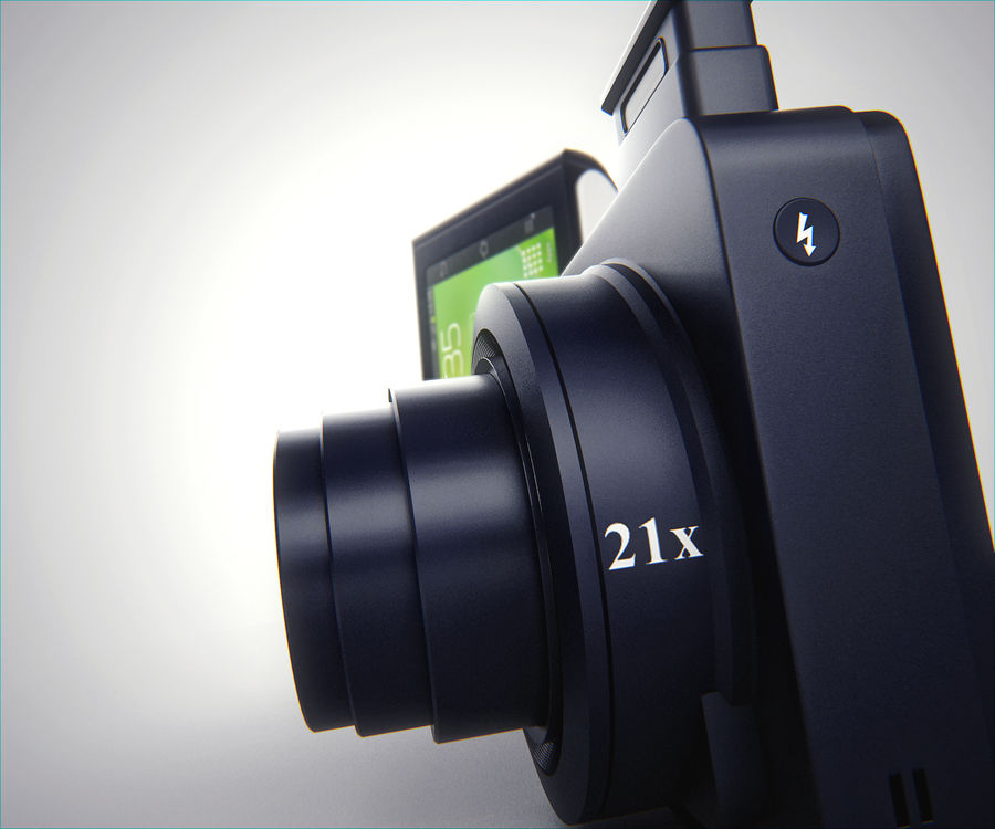 Samsung Galaxy Camera royalty-free 3d model - Preview no. 3