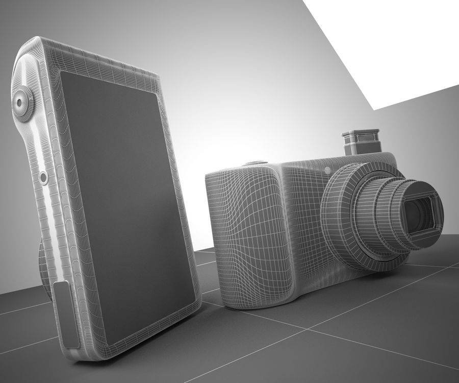 Samsung Galaxy Camera royalty-free 3d model - Preview no. 4
