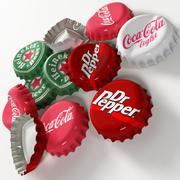 bottle caps 3d model