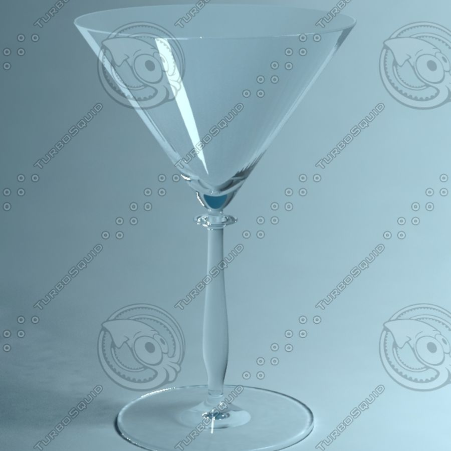 Martini glass royalty-free 3d model - Preview no. 1